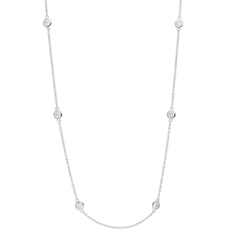 Deutsch Signature Six Polished Bezel Diamonds by the Yard Necklace