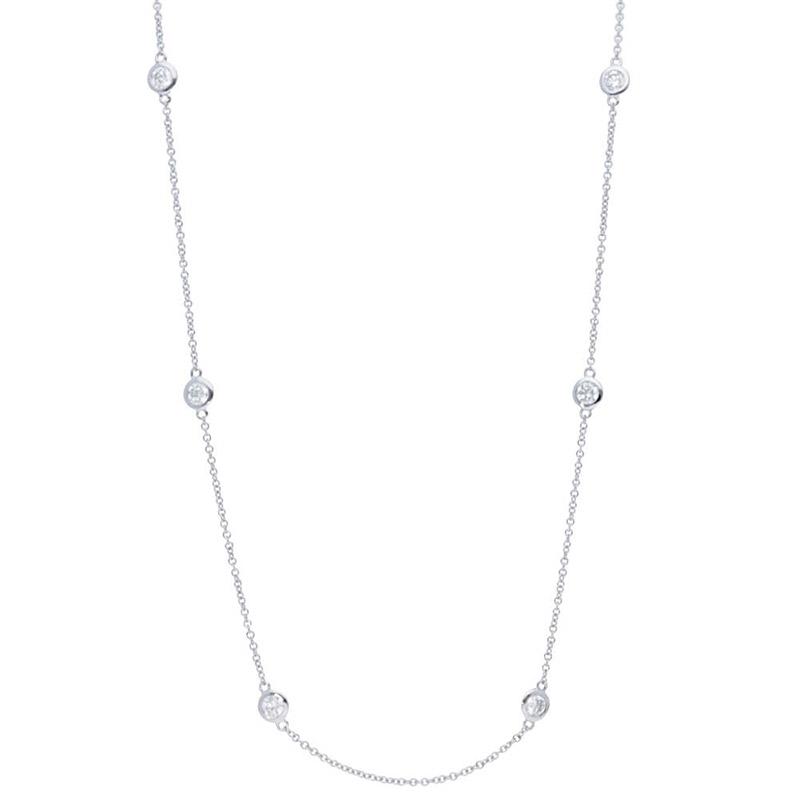 Deutsch Signature Six Polished Bezel Diamonds by the Yard Necklace