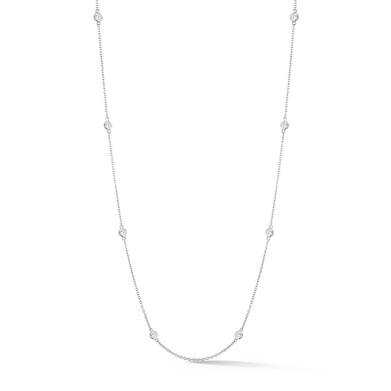 Deutsch Signature 8 Polished Bezel Diamonds by the Yard Necklace