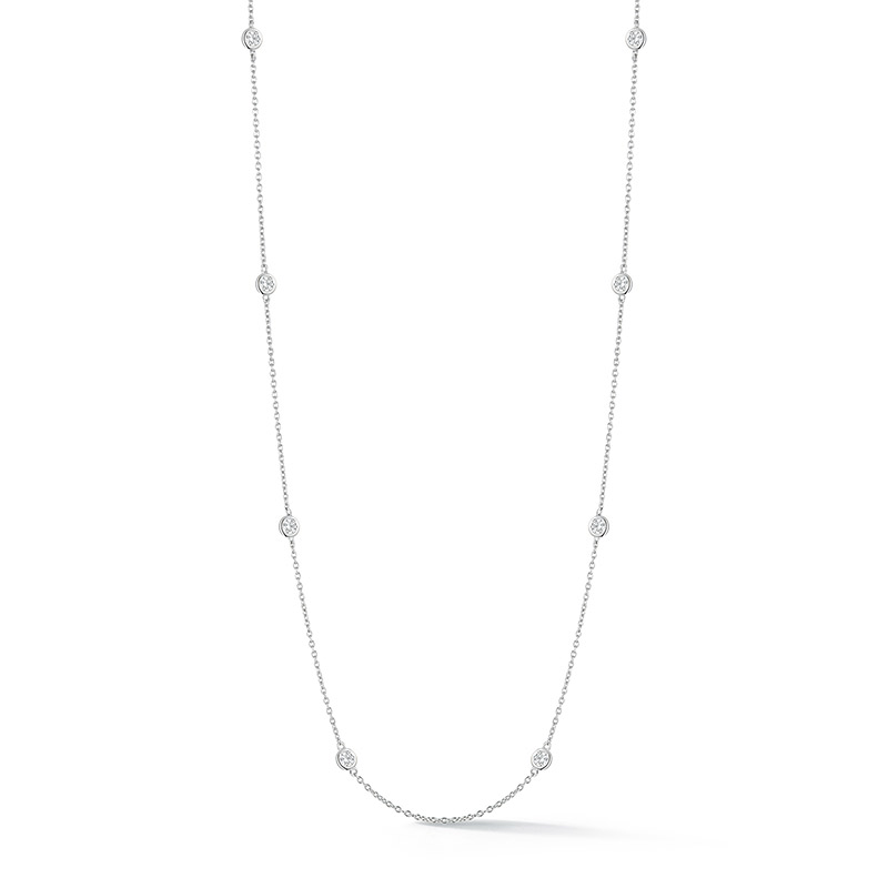 Deutsch Signature 8 Polished Diamond Bezel Diamond By Yard Necklace