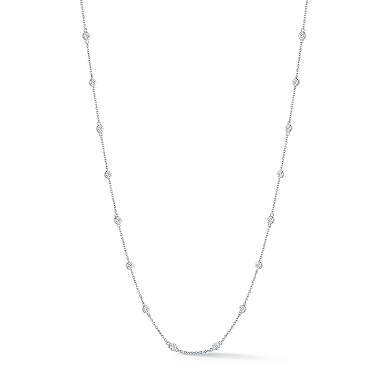 Deutsch Signature 16 Polished Bezel Diamonds by the Yard Necklace