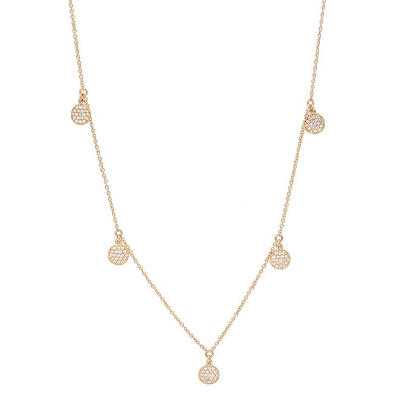 Deutsch Signature 5 Pave Diamond Circle Dangle Necklace