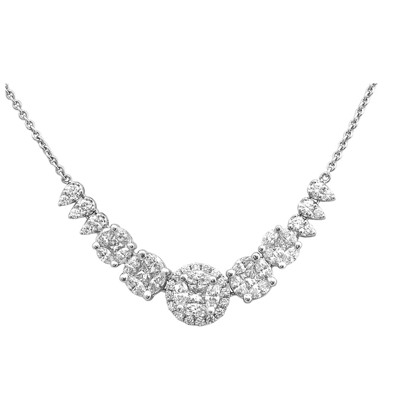 Jye's Marquise Cluster Station Necklace
