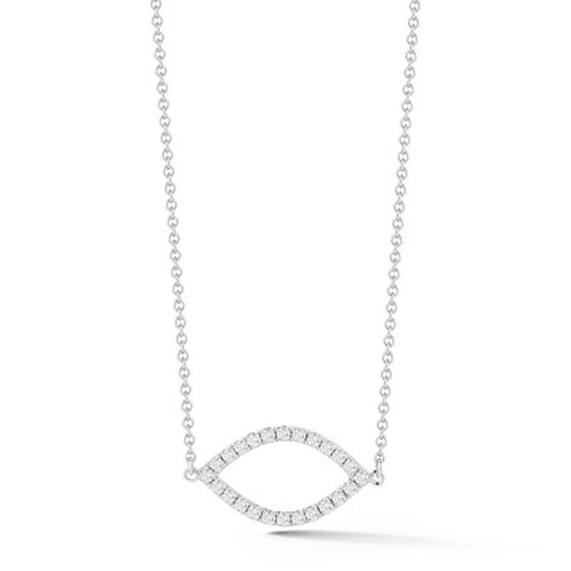 Deutsch Signature Pave Diamond Open Marquise Shape Necklace