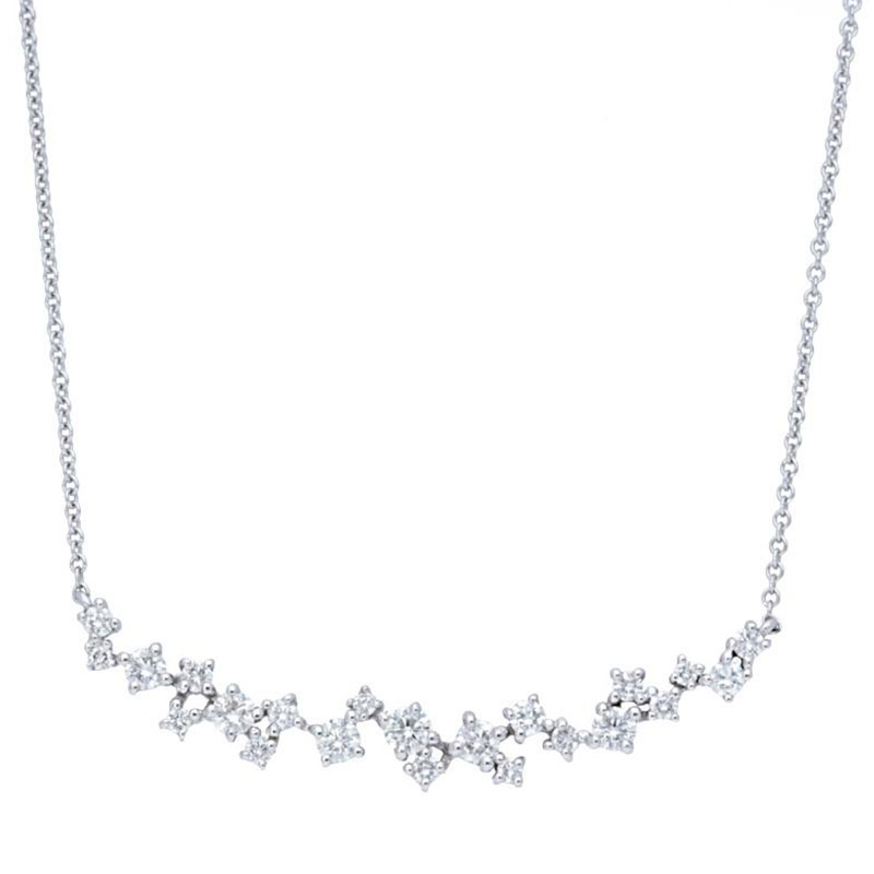 Deutsch Signature Scattered Diamonds Bar Necklace