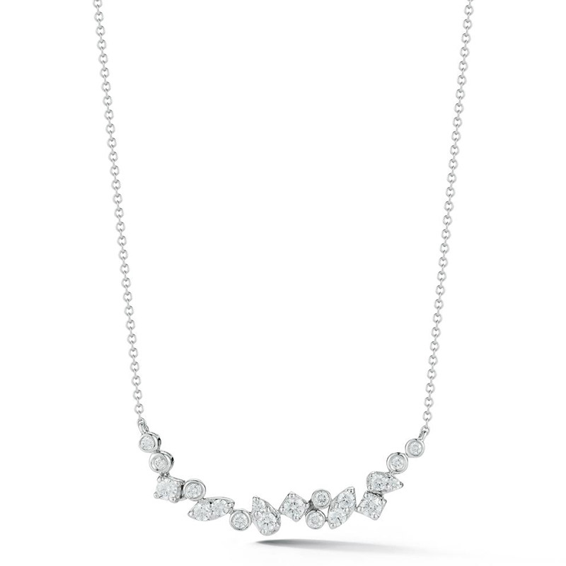 Deutsch Signature Scattered Diamonds Bar Necklace