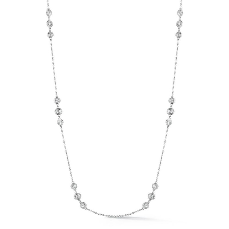 Deutsch Signature Triple Diamonds by the Yard Necklace