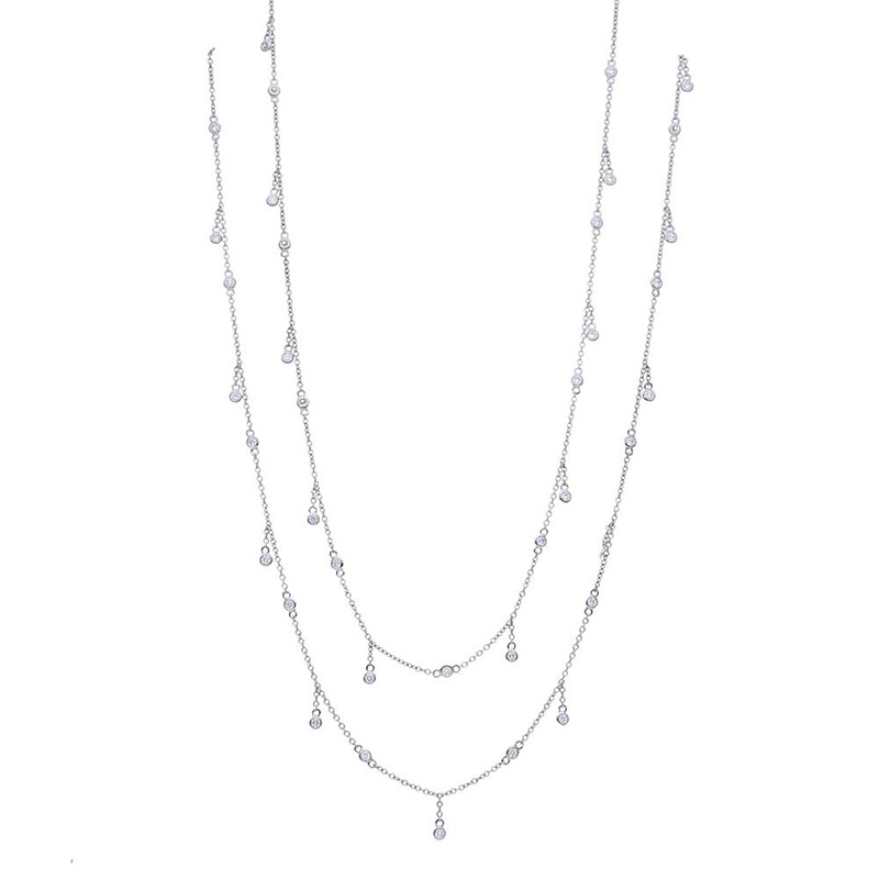 Deutsch Signature Diamonds by the Yard Dangle Necklace