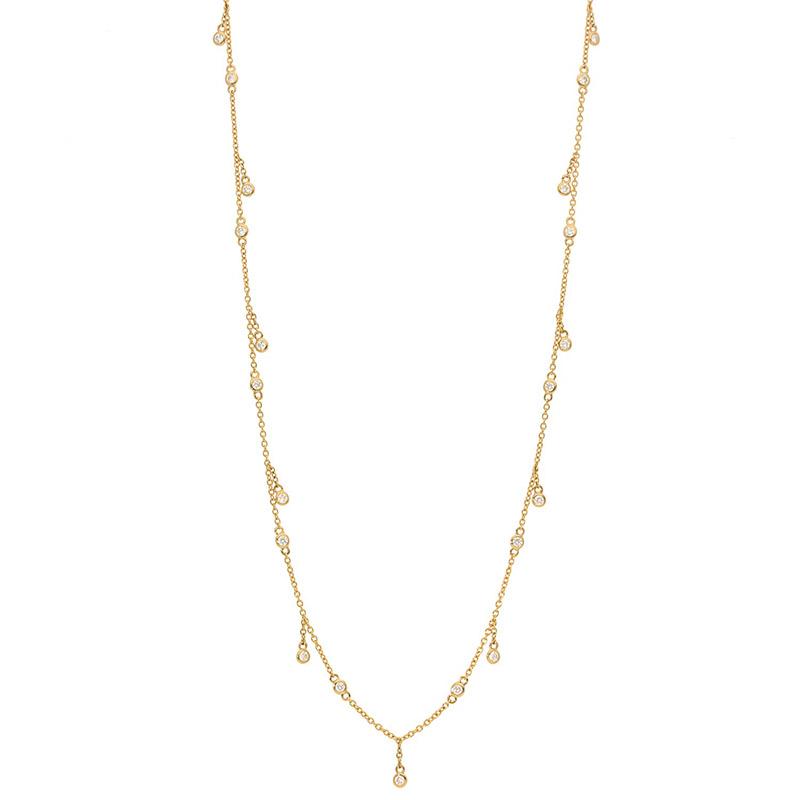 Deutsch Signature Diamonds by the Yard Dangle Necklace