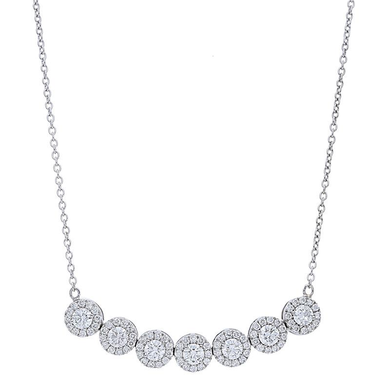 Deutsch Signature 7 Halo Diamond Necklace