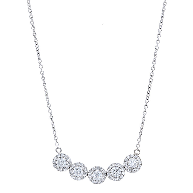 Deutsch Signature 5 Halo Diamond Necklace