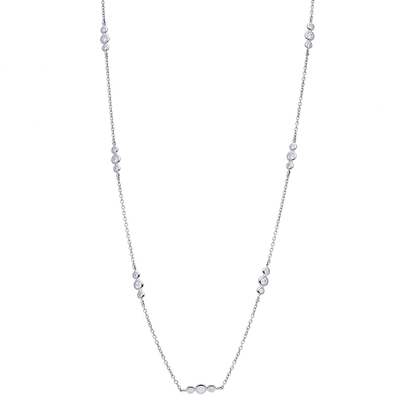 Deutsch Signature Alternating 3 Station Diamond Bezel Necklace
