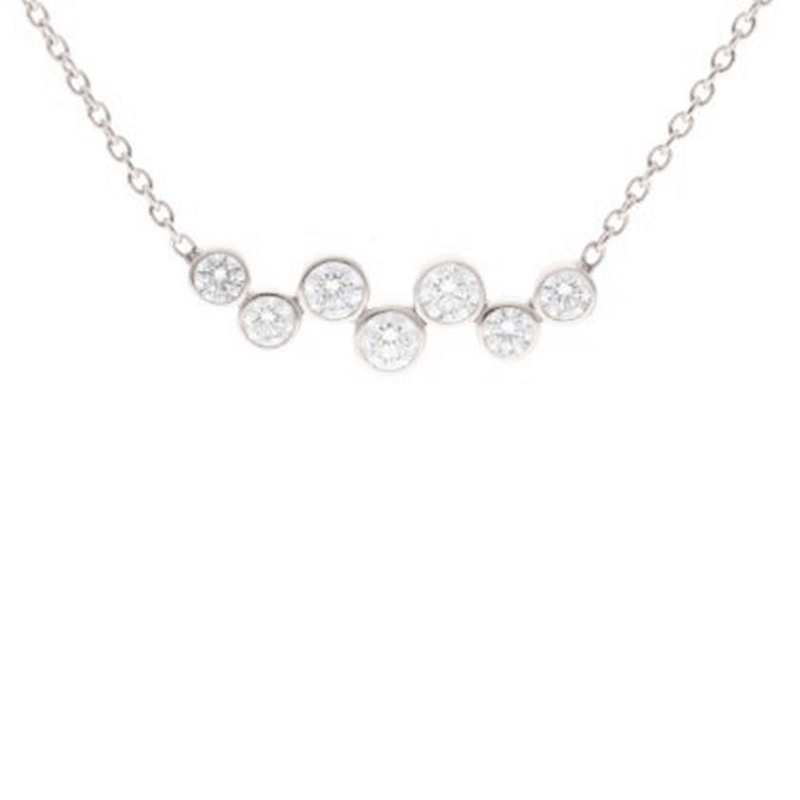 Deutsch Signature Diamond Bezel Scattered Bar Necklace