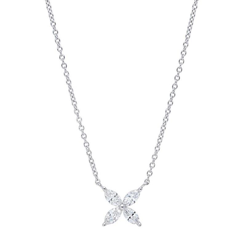 Deutsch Signature Marquise Diamond Flower Necklace