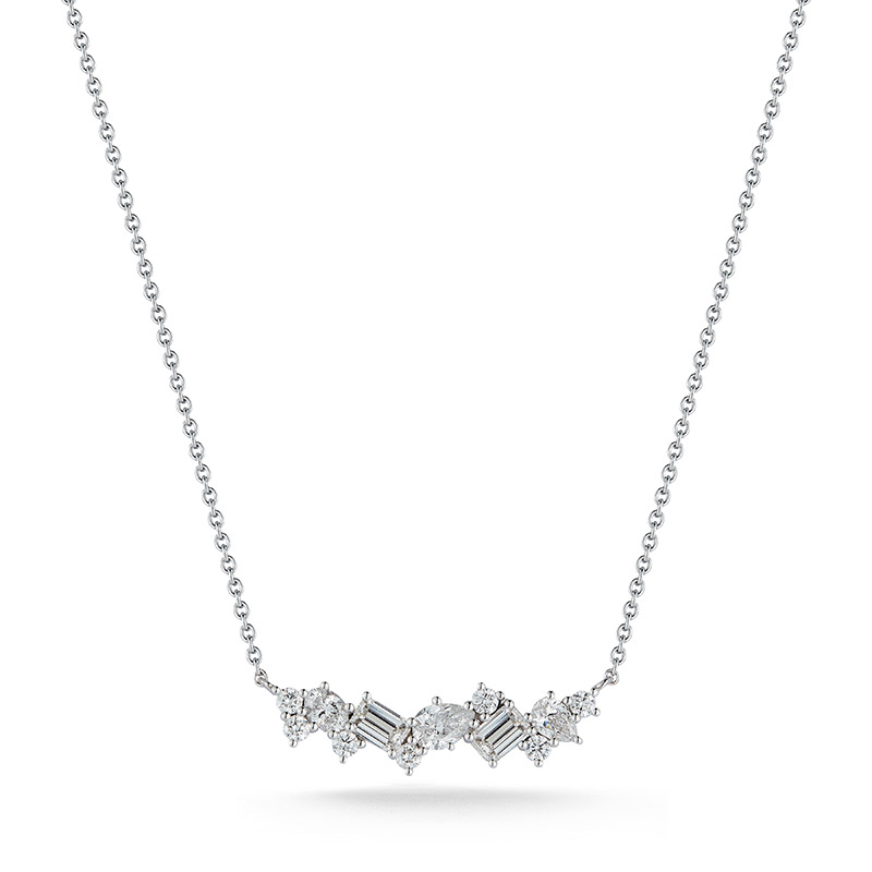 Deutsch Signature Multi-shaped Diamond Bar Pendant