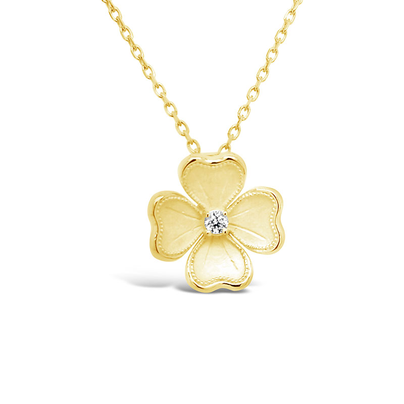 Rudolf Friedmann Gold Diamond Flower Pendant