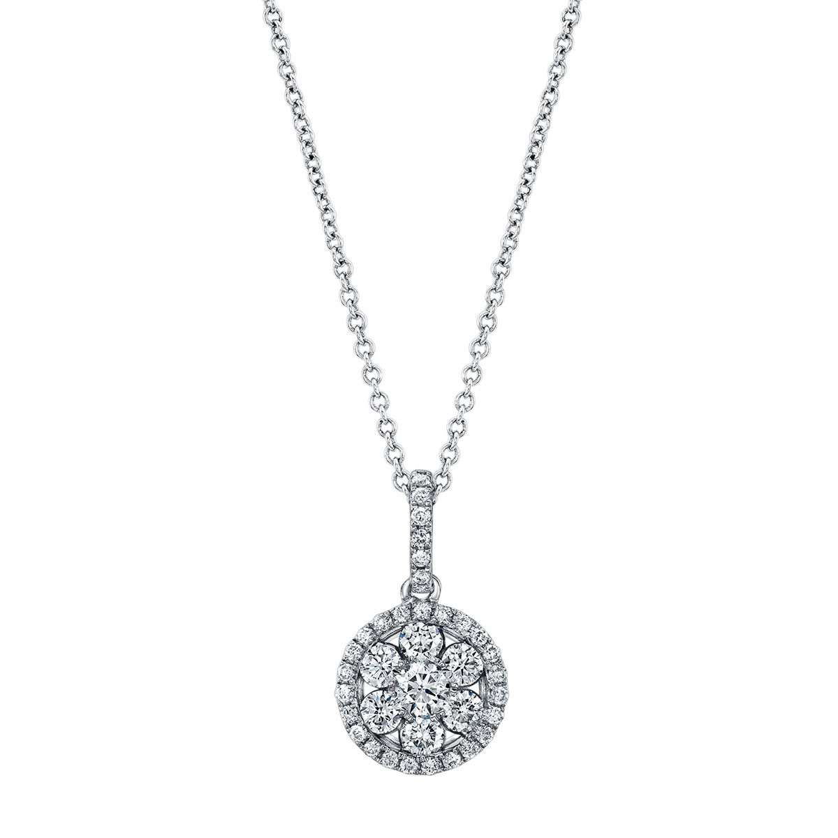 Deutsch Signature Round Diamond Cluster Pendant