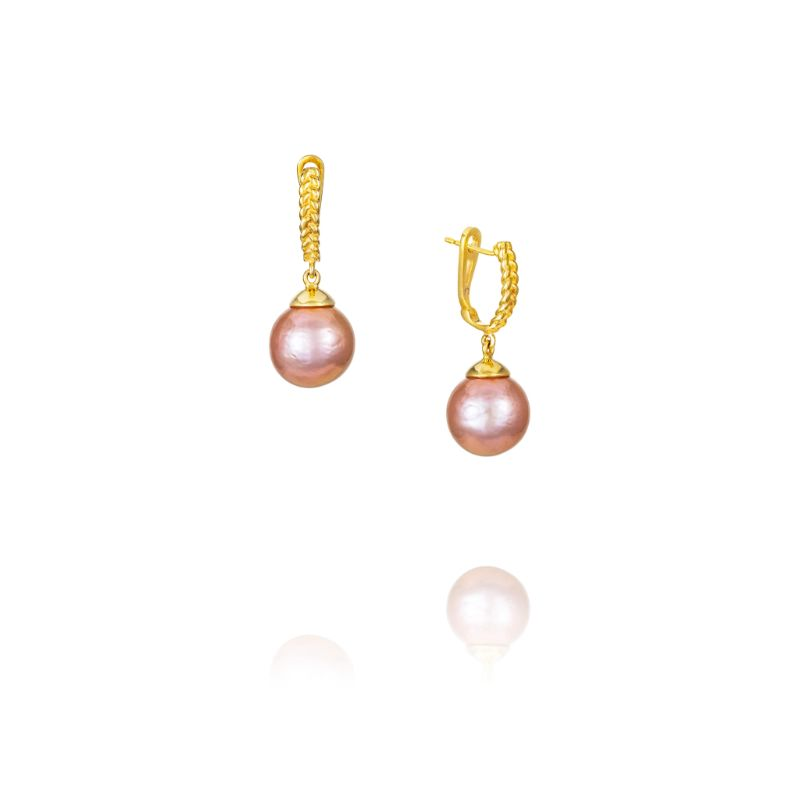 Vincent Peach Edison Pink Pearl Earrings