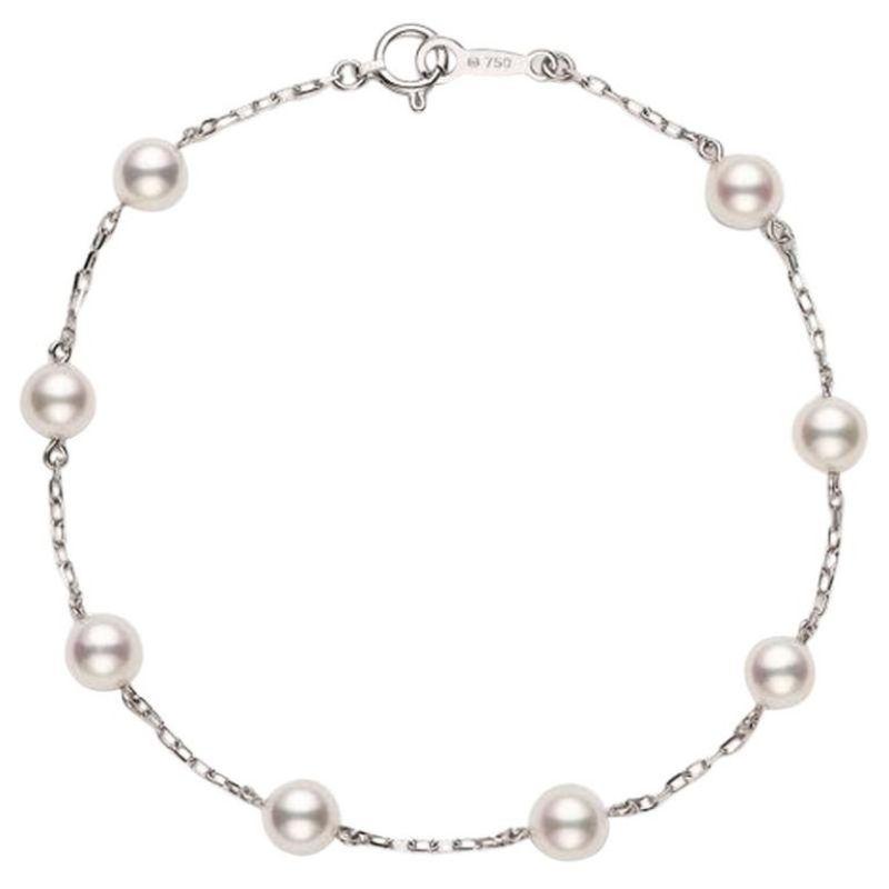 Chain Pearl 5X5.5MM Bracelet 18K.wg