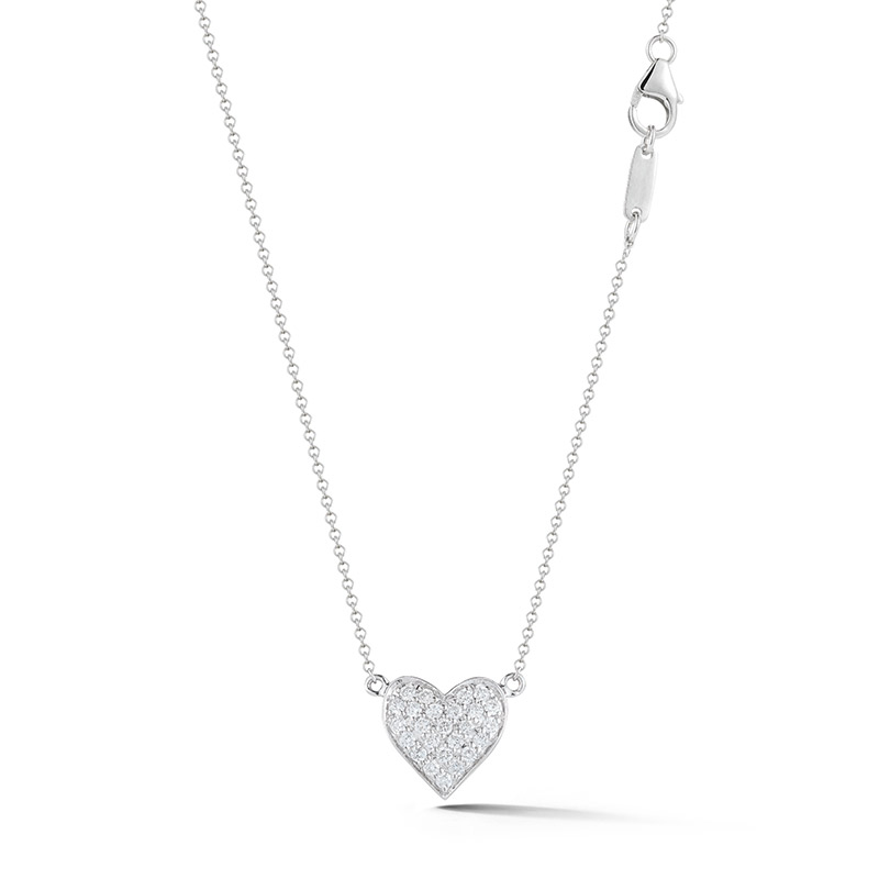 Deutsch Signature Pave Diamond Heart Pendant