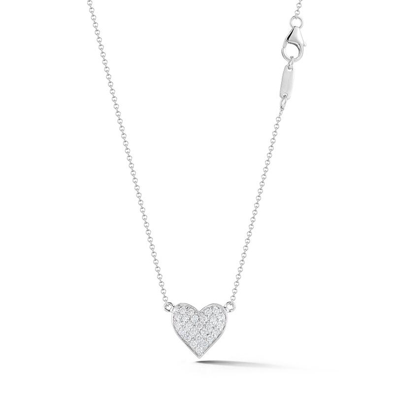 Deutsch Signature Pave Diamond Heart Pendant