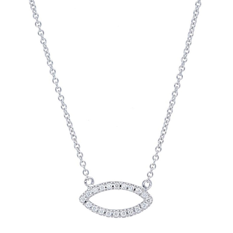 Deutsch Signature Pave Diamond Marquise Shape Necklace