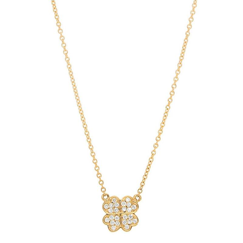 Deutsch Signature Pave Diamond Clover Pendant