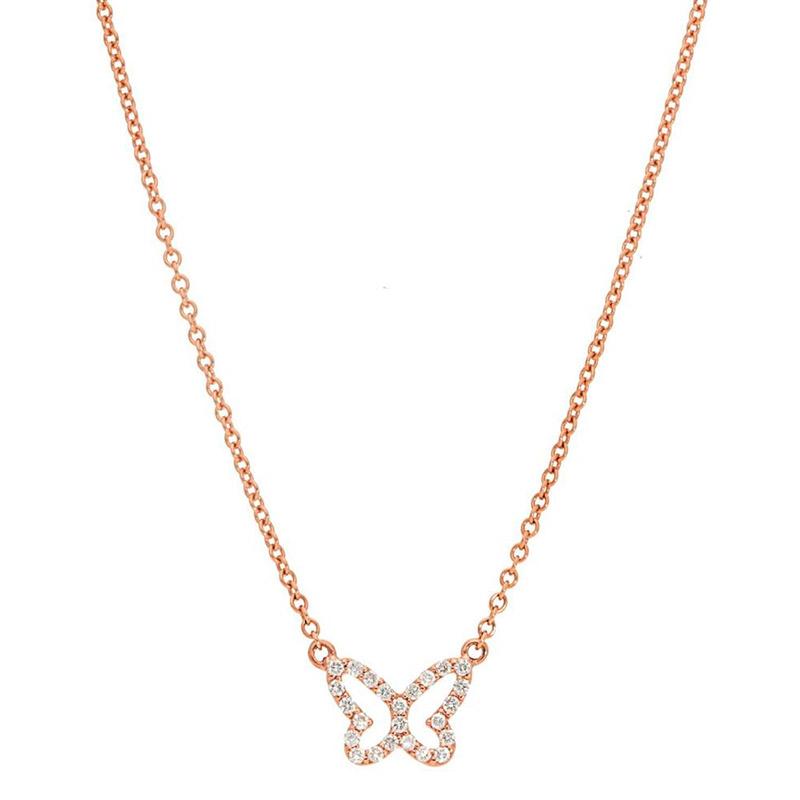 Deutsch Signature Open Pave Diamond Butterly Pendant
