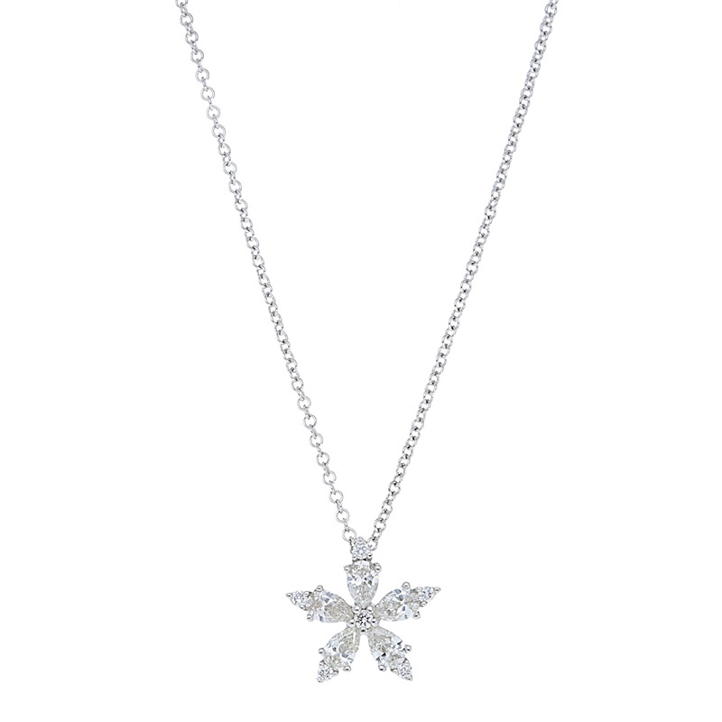 Deutsch Signature Diamond Flower Pendant