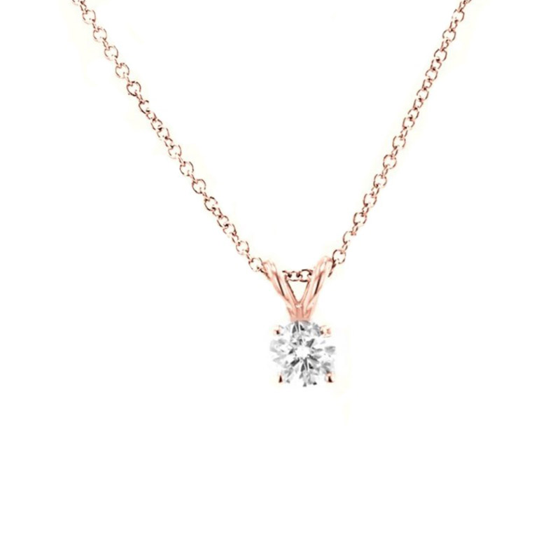 Deutsch Signature 4 Prong Diamond Pendant
