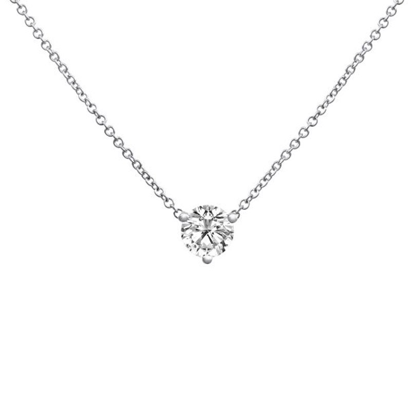 Deutsch Signature 3 Prong Diamond Pendant