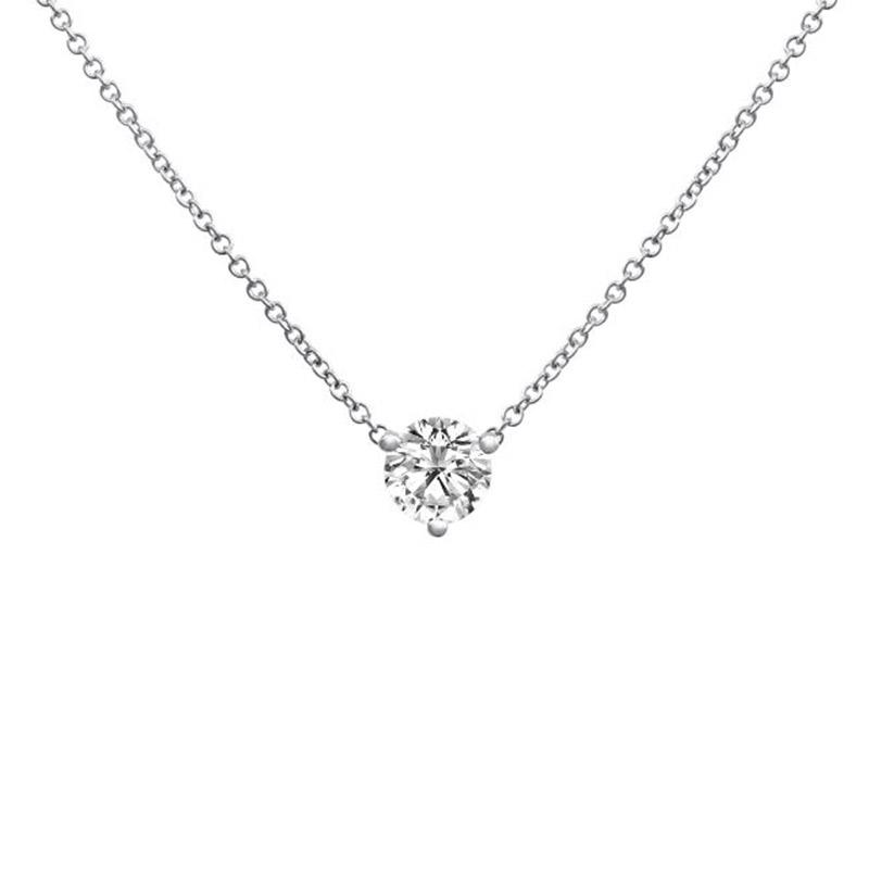 Deutsch Signature 3 Prong Diamond Pendant