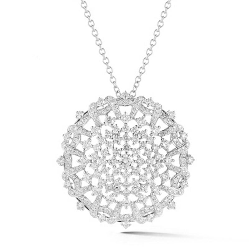 Deutsch Signature Diamond Medallion Pendant