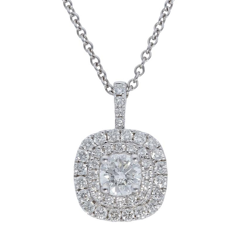 Deutsch Signature Double Halo Diamond Pendant
