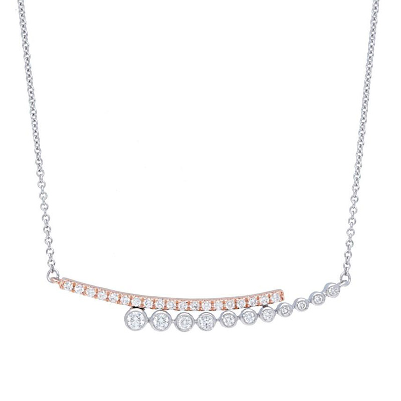 Deutsch Signature Diamond Bar and Bezel Bar Necklace