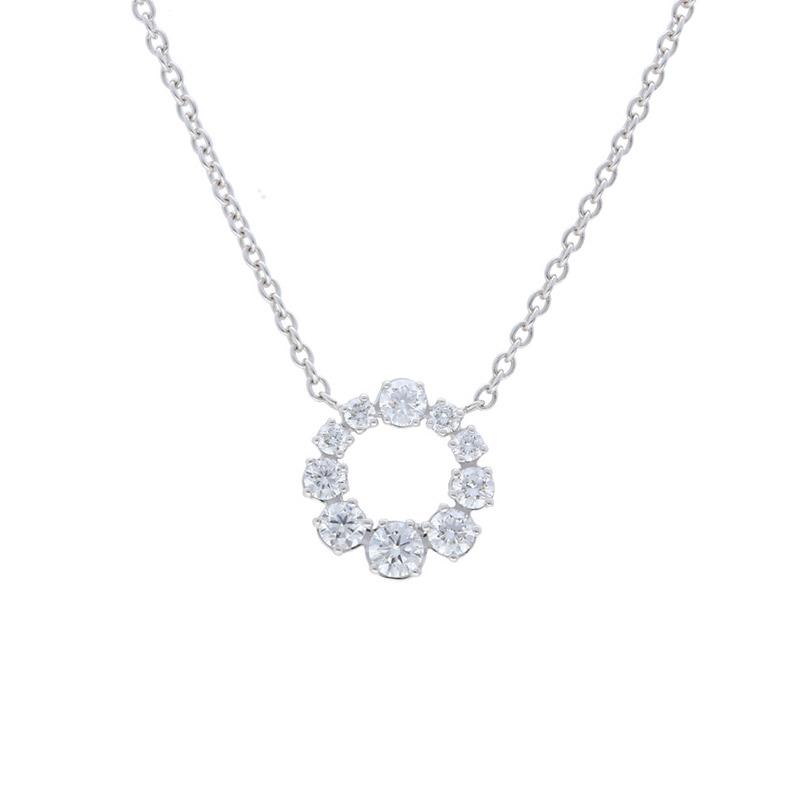 Deutsch Signature Graduated Diamond Round Pendant