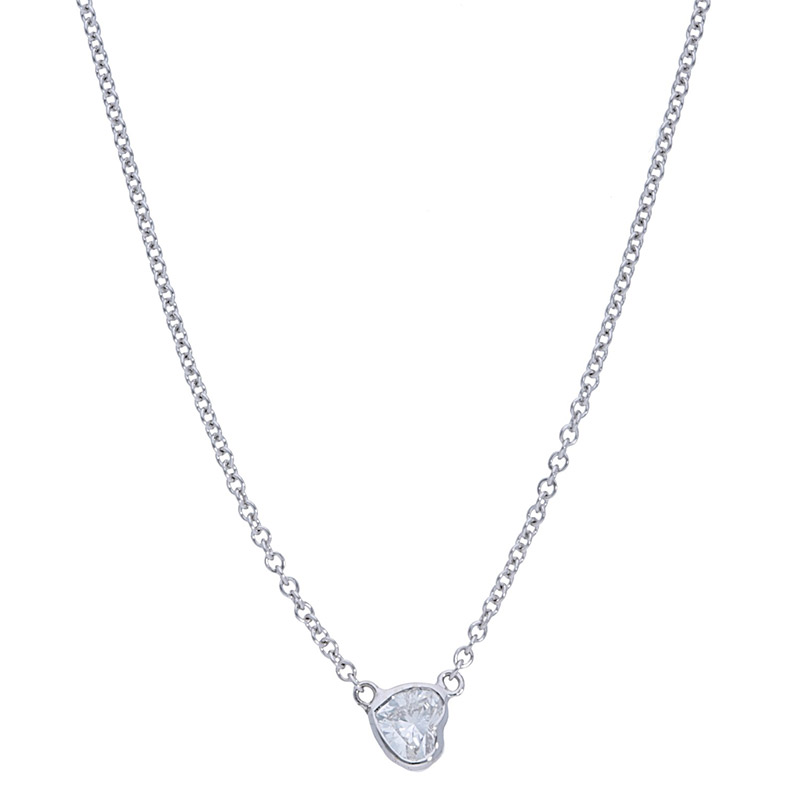 Deutsch Signature Sideways Heart Bezel Diamond Necklace