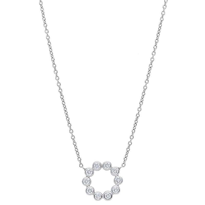 Deutsch Signature Diamond Bezel Circle Necklace
