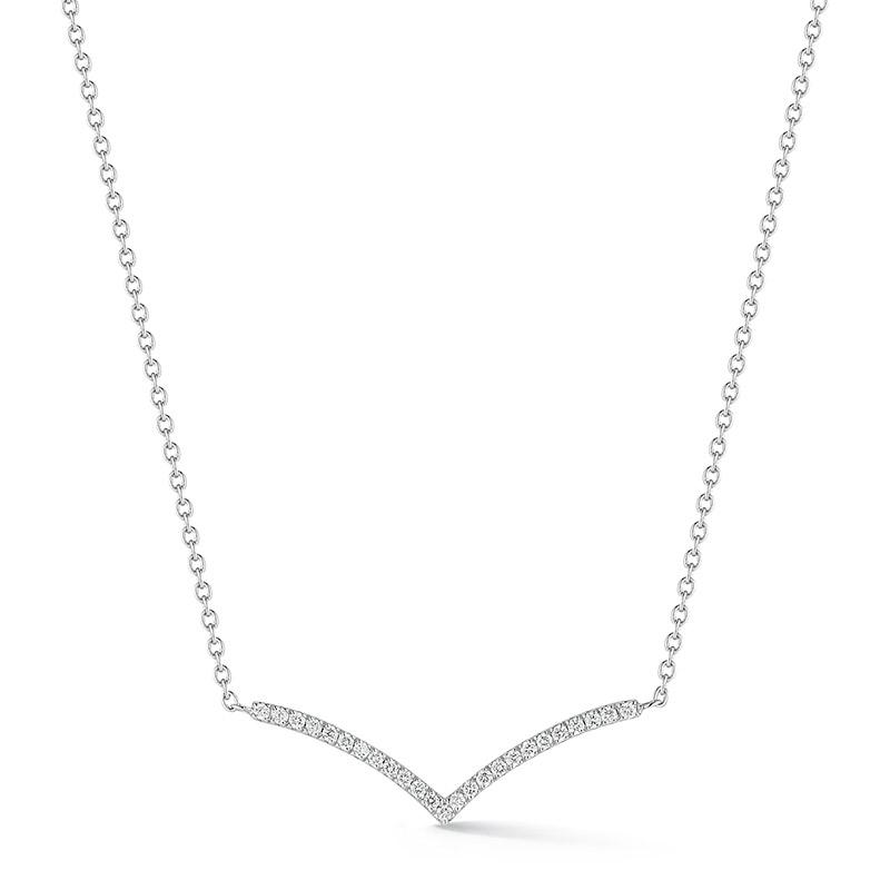 Deutsch Signature Diamond V Necklace