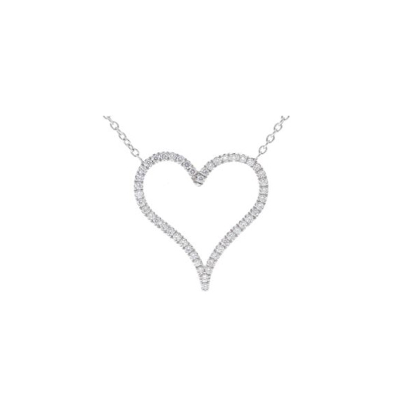 Deutsch Signature Diamond Pave Heart Necklace