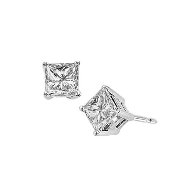 Deutsch Signature 4 Prong Princess Stud Earrings