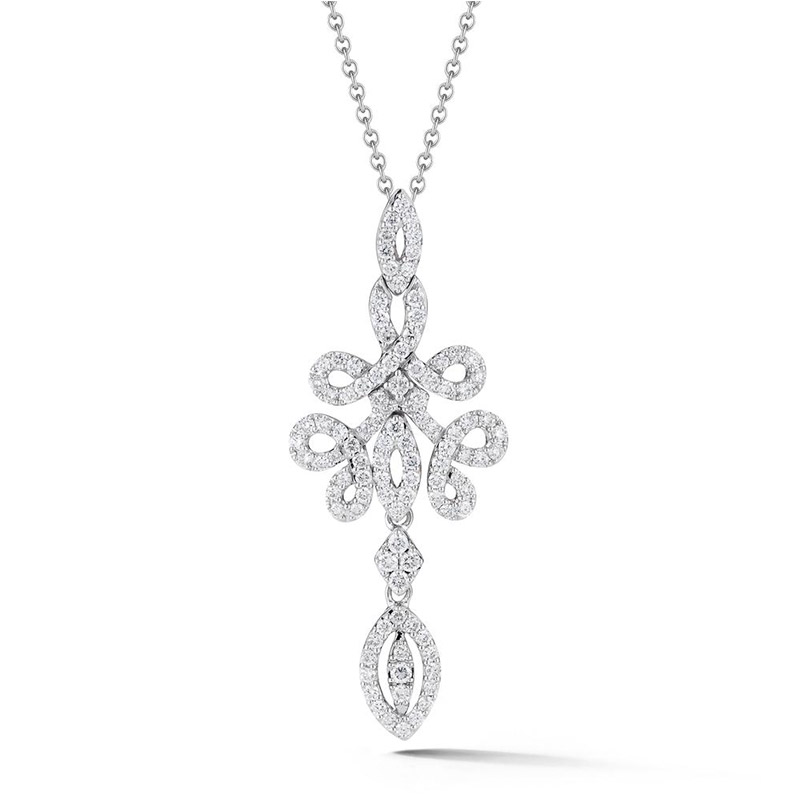 Deutsch Signature Pave Diamond Swirl Chandelier Pendant