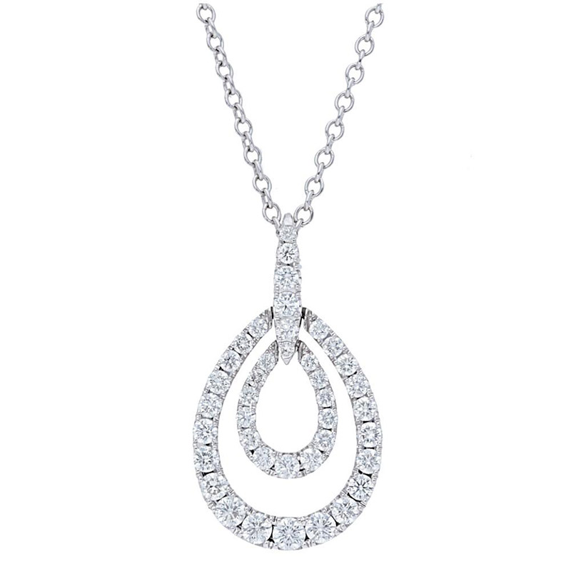 Deutsch Signature Pave Diamond Double Pear Shape  Pendant