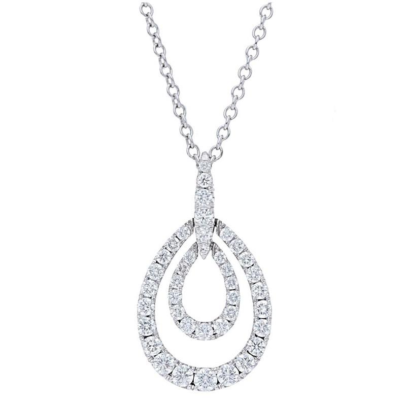 Deutsch Signature Pave Diamond Double Pear Shape  Pendant