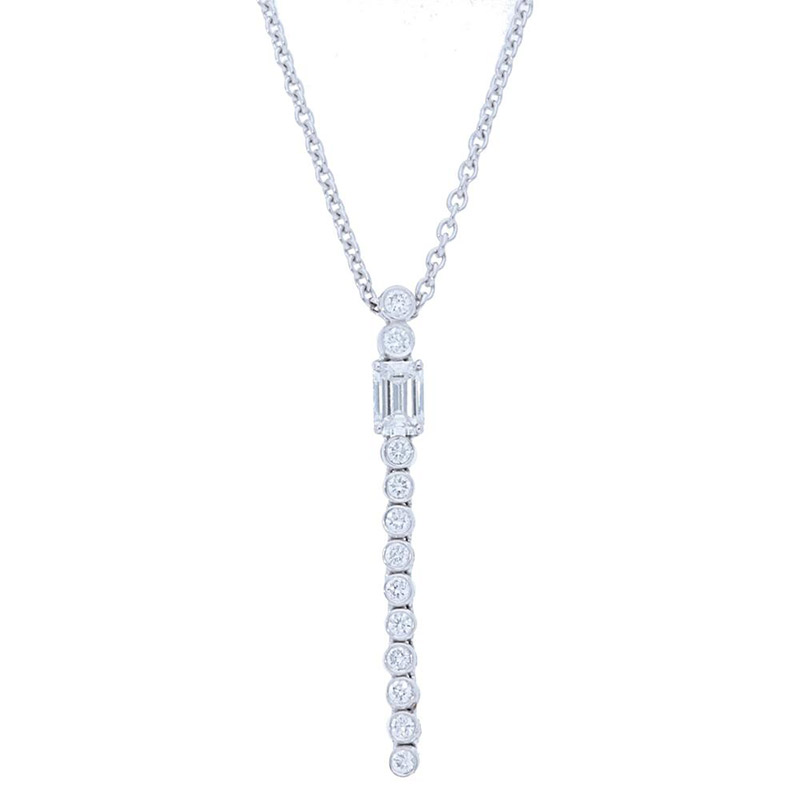 Deutsch Signature Diamond Bezel Drop with Emerald Pendant