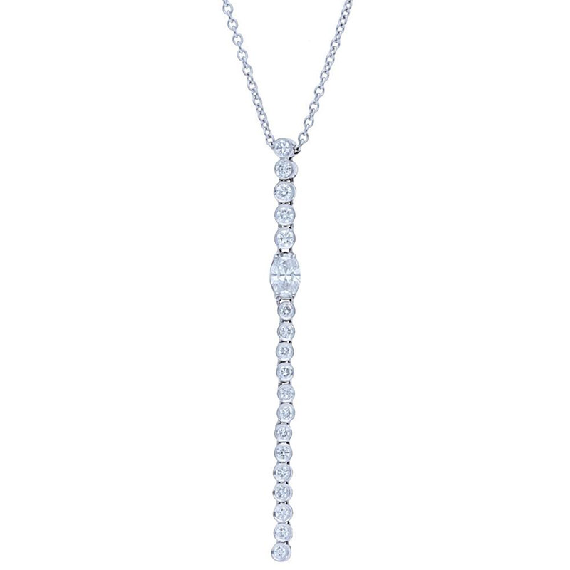 Deutsch Signature Diamond Bezel Drop with Oval Pendant