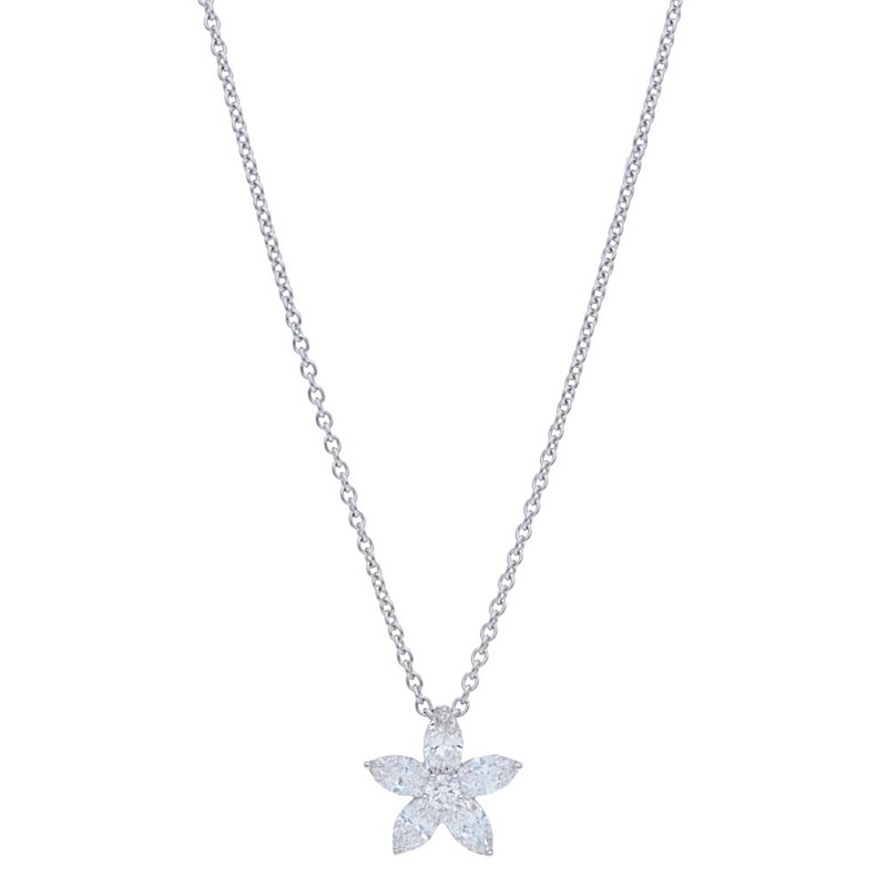 Deutsch Signature Marquise Diamond Flower Pendant