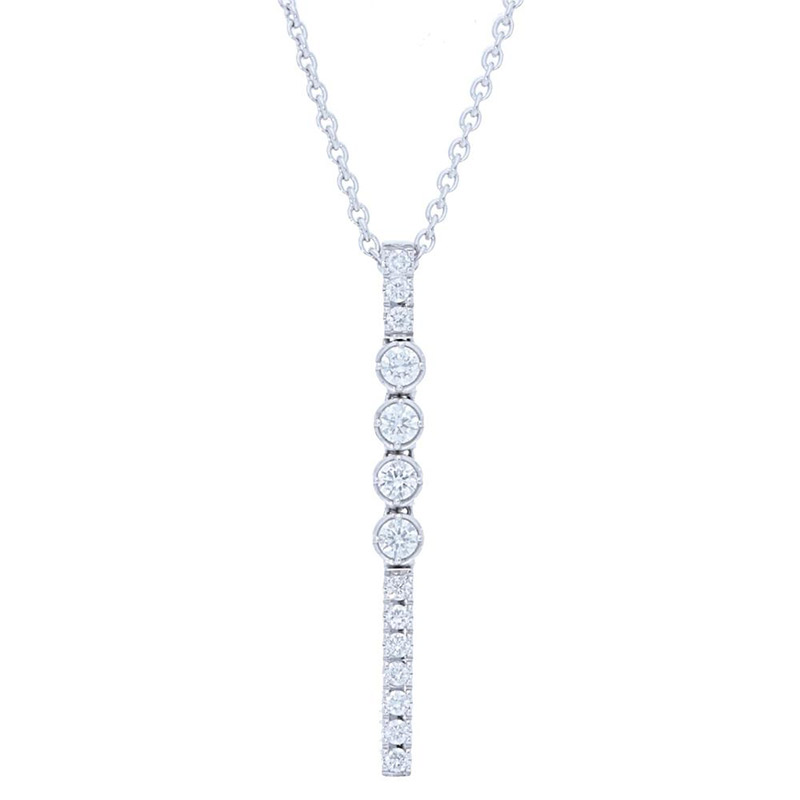 Deutsch Signature Diamond Stick with 3 Bezel Pendant