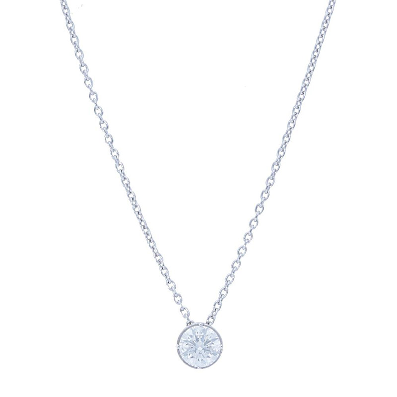 Deutsch Signature Round Diamond Bezel Pendant