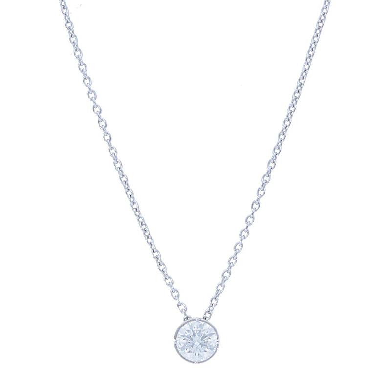 Deutsch Signature Round Diamond Bezel Pendant